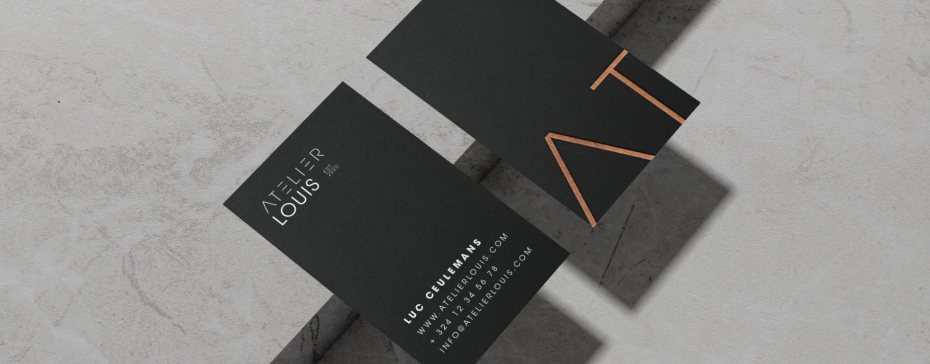 Visitekaartjes Atelier Louis